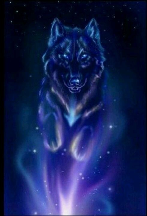 Awesome blue wolf