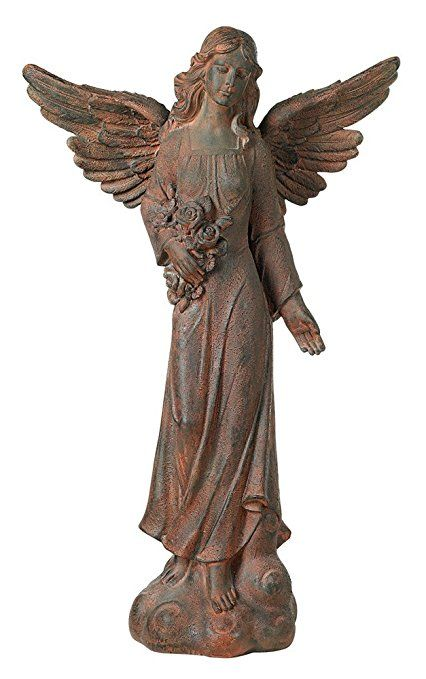 English Tudor Garden Angel 41 1/2\ - outdoor angel christmas decorations