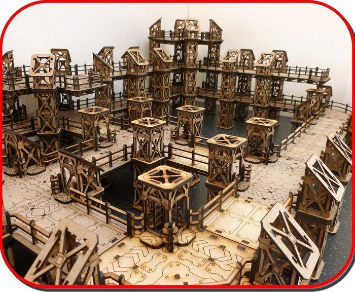 Laser Cut Mdf Terrain for Wargames by T J H Models by T J H