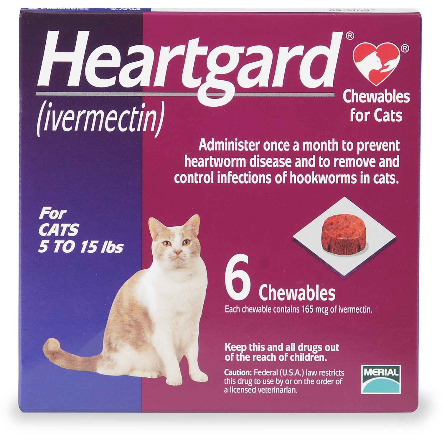Heartgard Chewables For Cats 5 To 15 Lbs 6 Pack Pet Meds Best