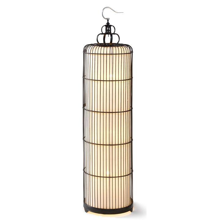 Birdcage Floor Lamp, Chinese Birdcage Lamp, Oriental Lighting, Shimu