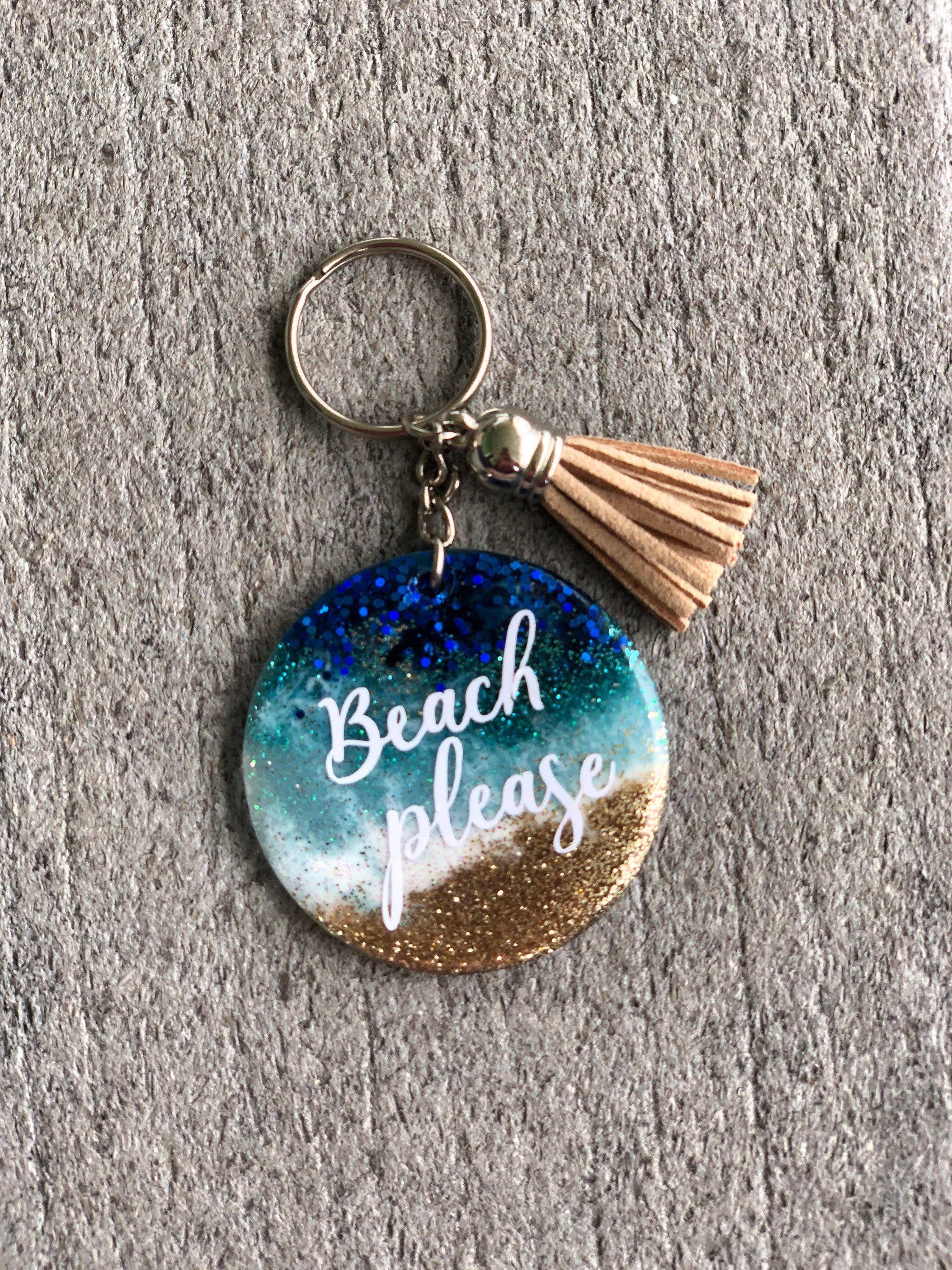 Beach themed acrylic keychains acrylic keychain keychains