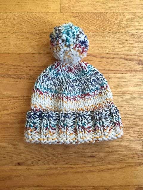 Knit this chunky beanie with one of our featured yarns ...