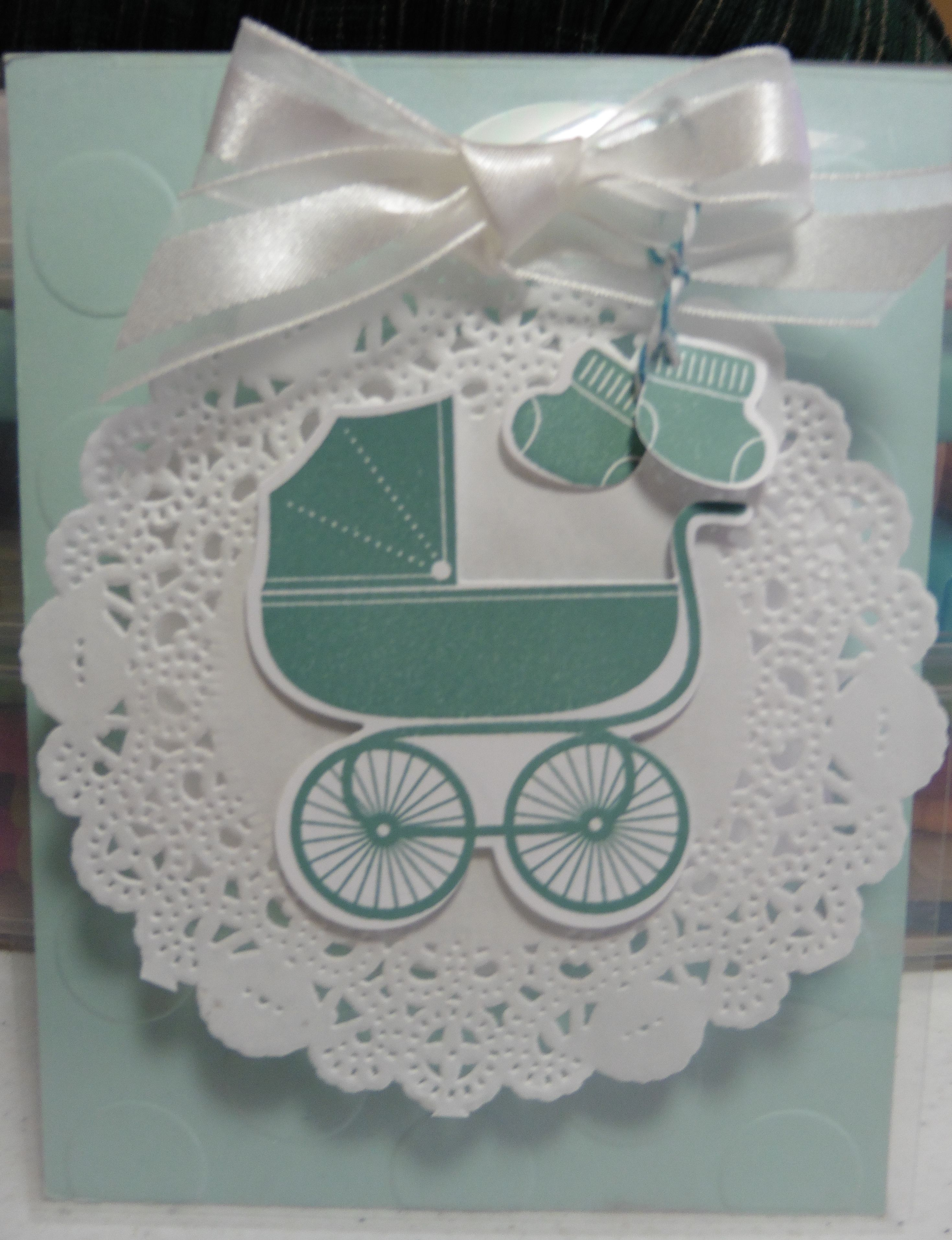 Baby Card with Stampin' Up Products. created by Susan Diaz Stampin' Up Demonstrator , susandiaz1.stampinup.net