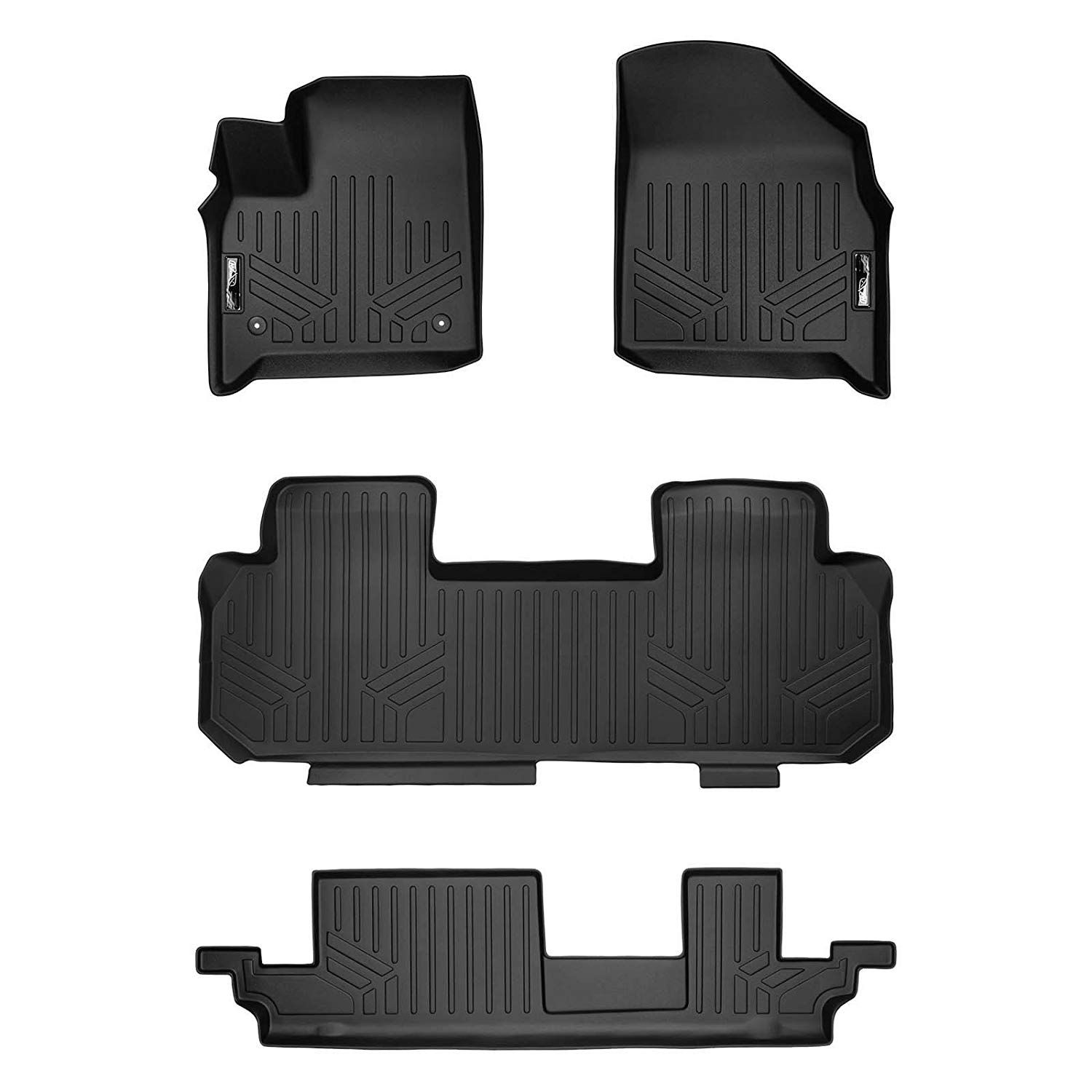 Smartliner Floor Mats 3 Row Liner Set Black For 2018 2019 Chevrolet Traverse With 2nd Row Bench Seat See This Gr Chevrolet Traverse Chevrolet Buick Enclave