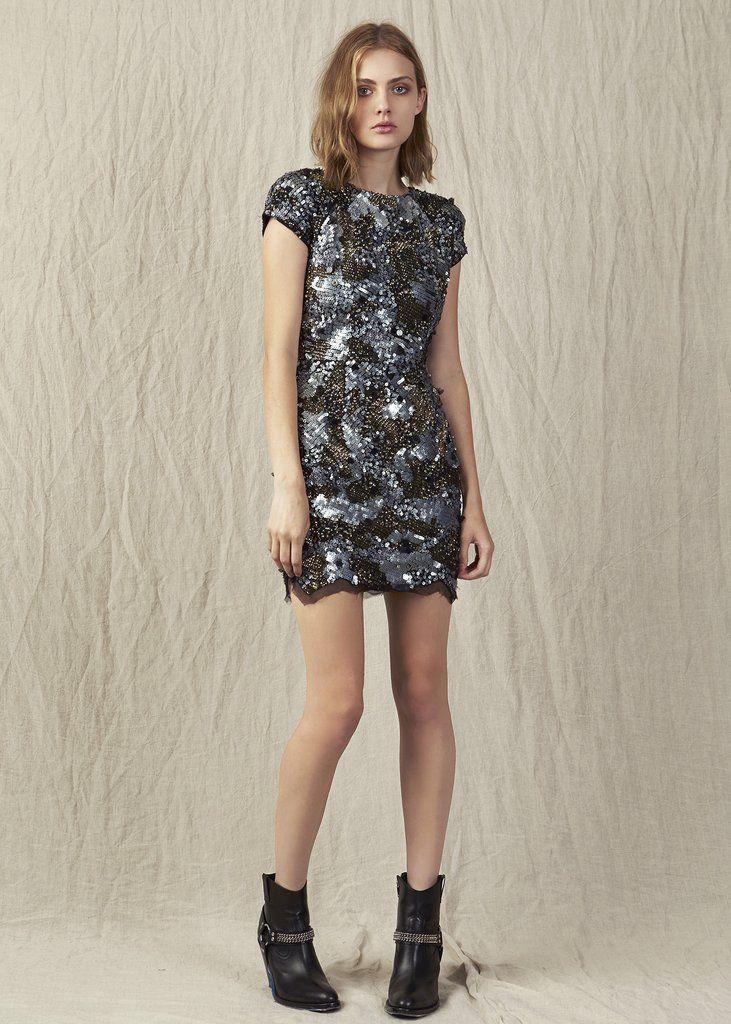 Aje Octavia Sequin Mini Dress Dresses Cocktaileveningformal