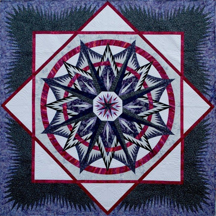 Mariners Compass Quiltworx Mad By Certified Shop Blue