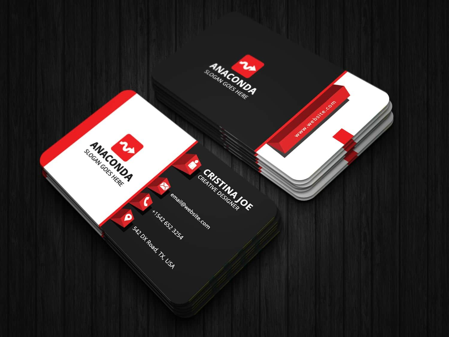 3d Business Card Template Colorful Business Card 3d Business Card Business Card Template