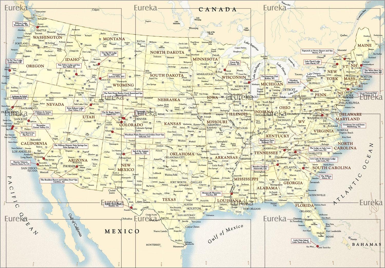 Lexusresorts promotional US map Eureka Cartography Berkeley CA