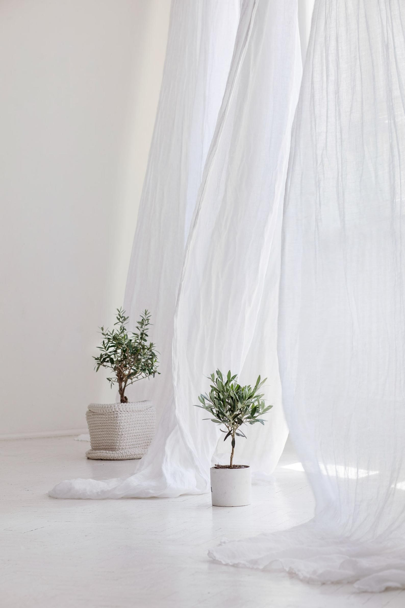 Ethereal Linen Curtains Bed Drape Linen Curtain Panel Light Etsy In 2021 White Linen Curtains Sheer Linen Curtains Linen Curtains