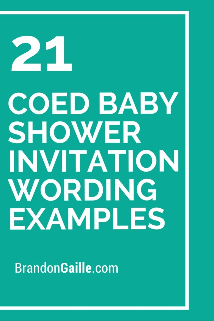 21 Coed Baby Shower Invitation Wording Examples | Shower invitations ...