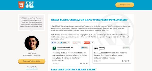 HTML5 Responsive Blank Theme for rapid WordPress development   Web ...