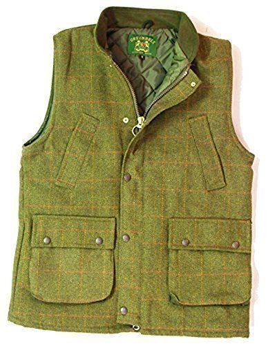 Tweed Waist Coat New Men/'s Made In England Green Moleskin Collar S M L XL XXL