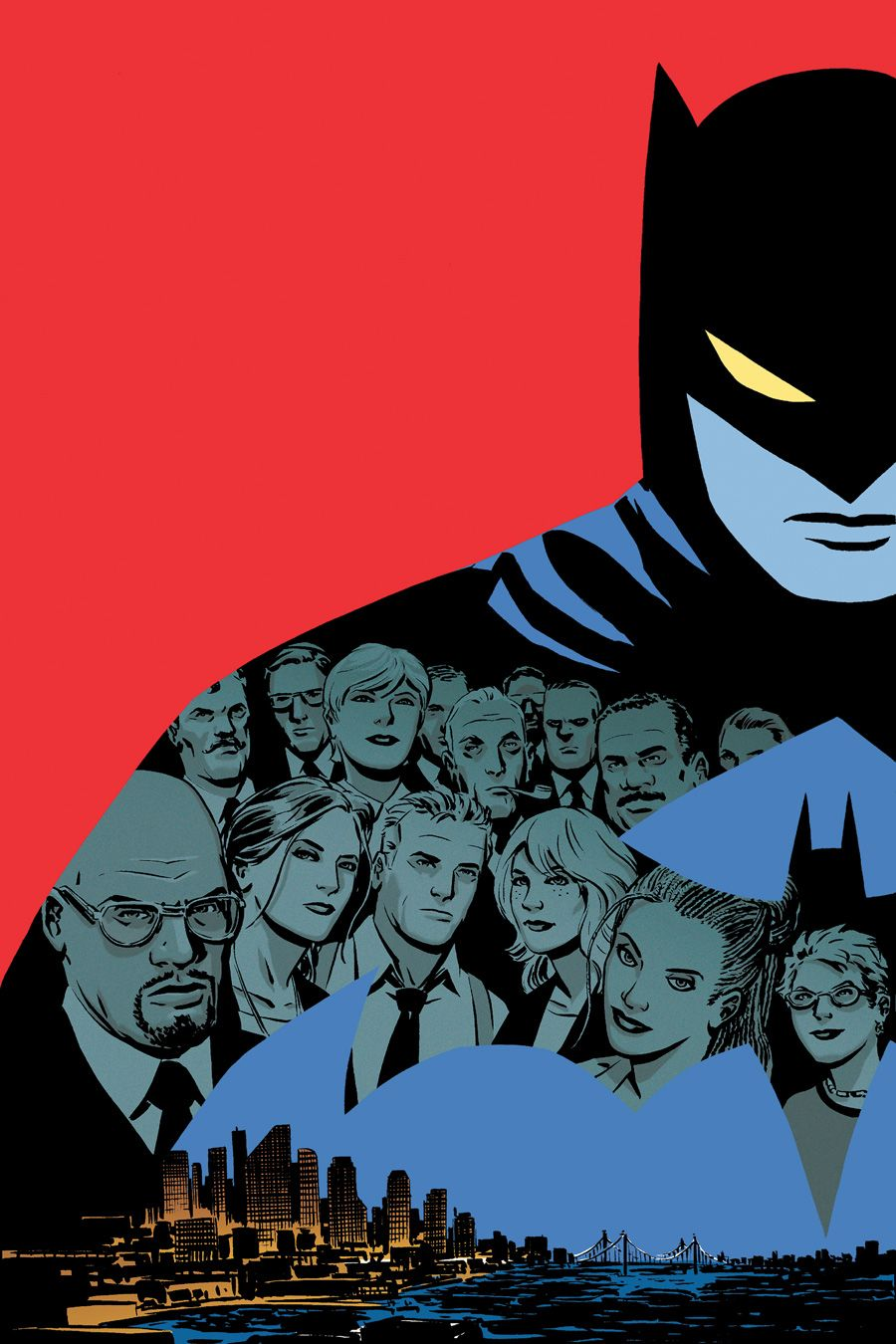 deantrippe:    zoutman:    GOTHAM CENTRAL HC 3 cover by Cliff Chiang.    I have this print. I loved this book. Cliff Chiang is the best.