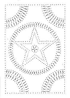 Star Tin Punch Pattern Punched Tin Patterns Punched Tin Tin Can Crafts