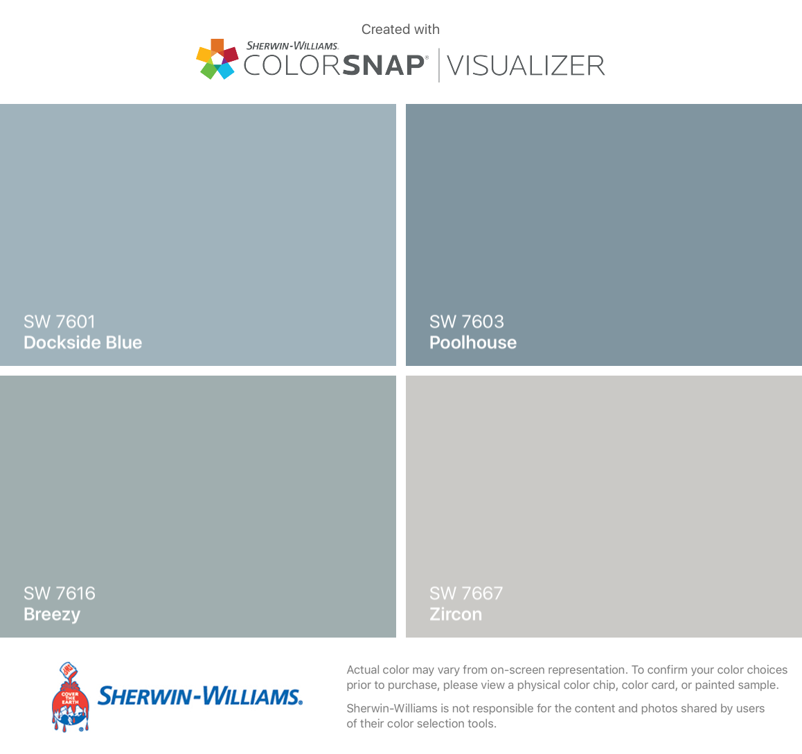 I Found These Colors With Colorsnap Visualizer For Iphone By Sherwin Williams Dockside Blue Exterior House Colors House Paint Exterior Paint Colors For Home