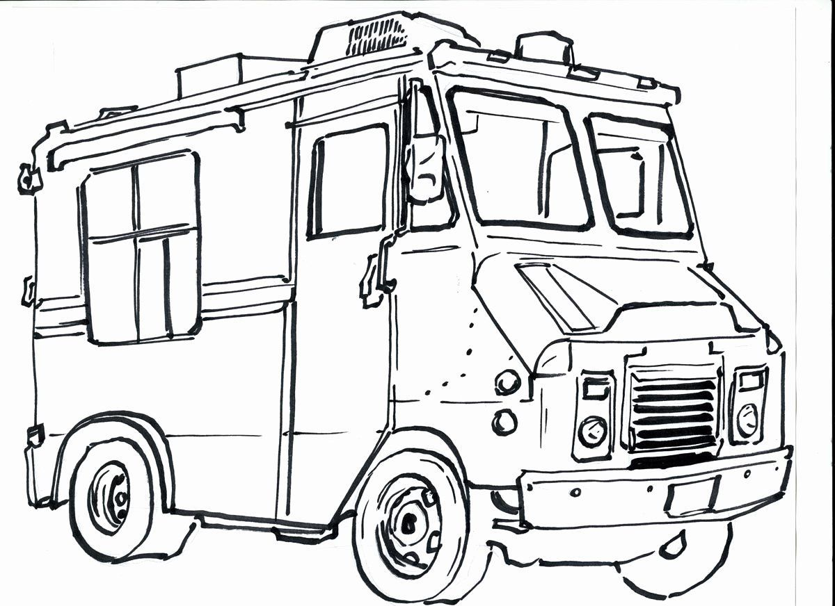 Ice Cream Truck Coloring Page Lovely Full Effect Design