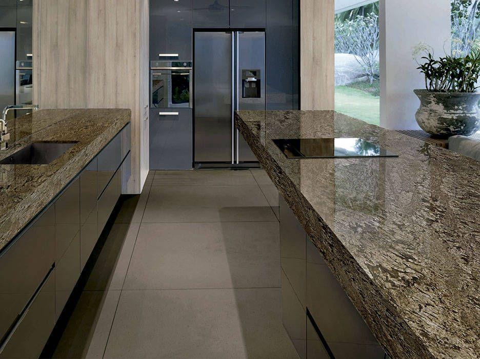 Cocina con encimera granito naturamia feratto - Cocinas con encimeras de granito ...