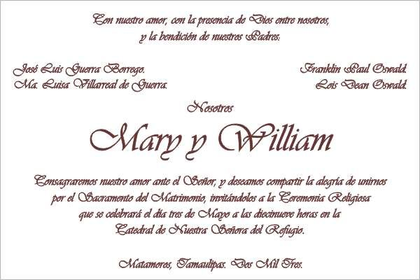 Formato Invitacion De Boda Saves Wpart Co