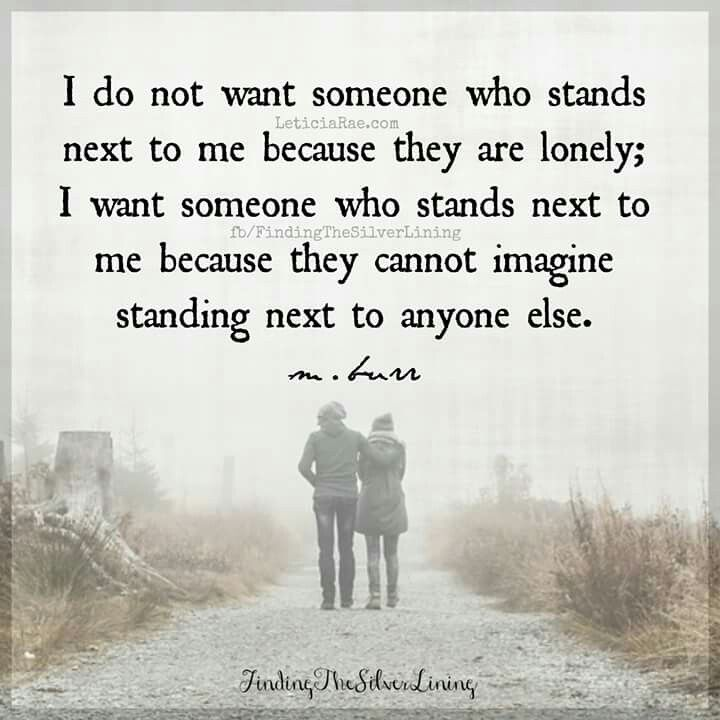 Someone to stand beside me