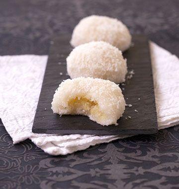 Boules De Coco Asiatiques A La Farine De Riz Gluant Perles Coco Comme Dans Les Restaurants Recette Recettes De Cuisine Perle Coco Recette
