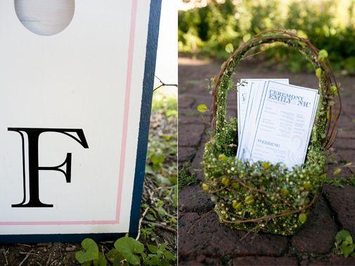 Wedding ceremony programs | Photos by Leah Fontaine | Minnesota Bride Magazine