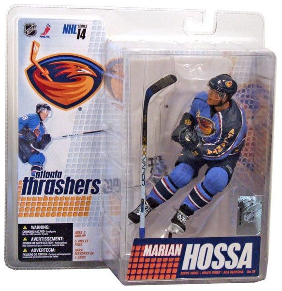 Mcfarlane Toys Nhl Atlanta Thrashers Sports Picks Series 14 Marian Hossa Action Figure Blue Jersey In 2020 Sports Picks Mcfarlane Toys Nhl
