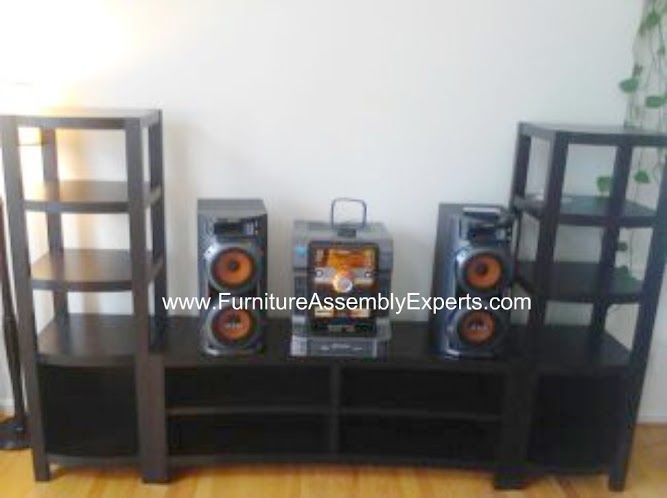 Value City Townsend Entertainment Center Assembled In Upper