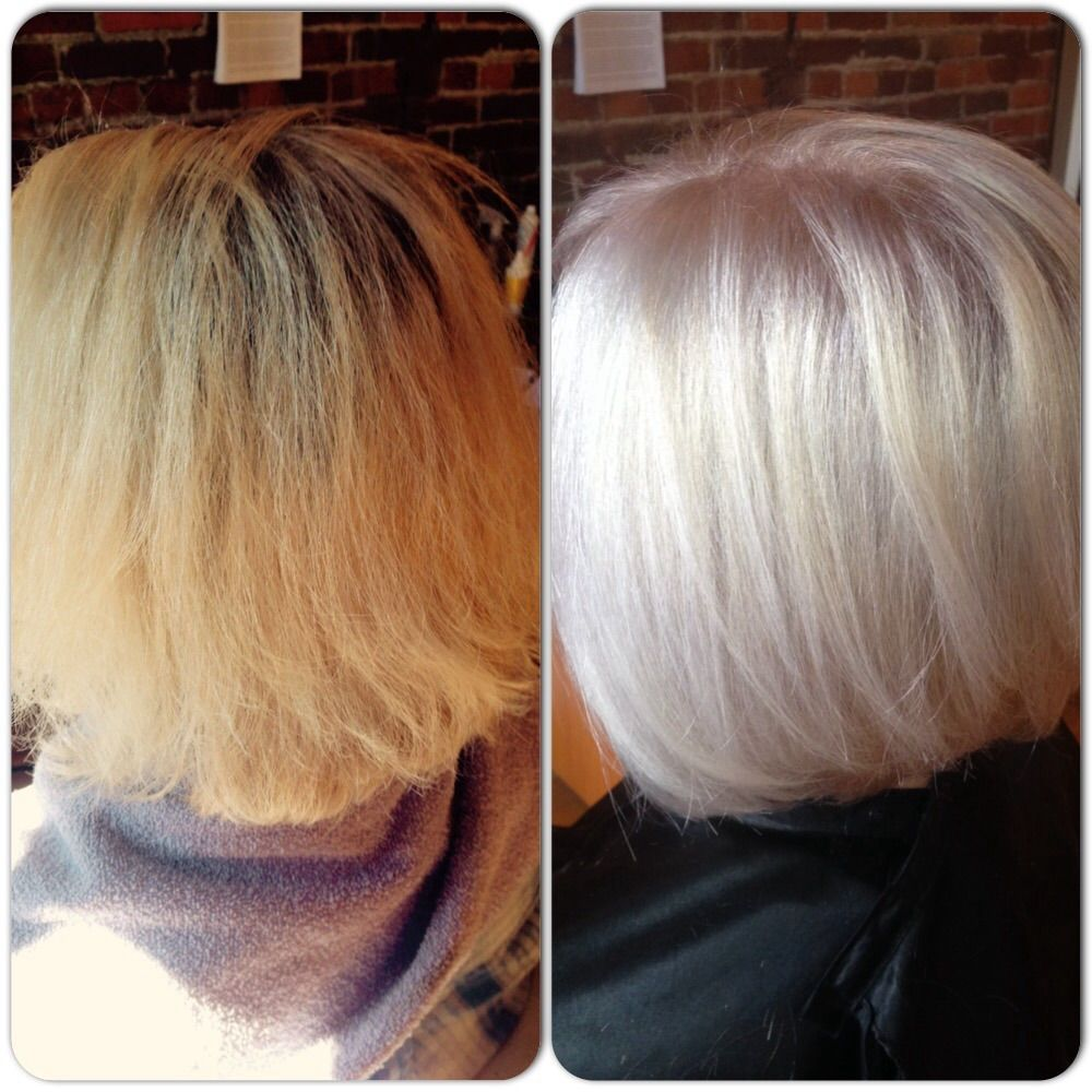 Before After High Lift Artego Blonde No Bleach Olaplex Stunning