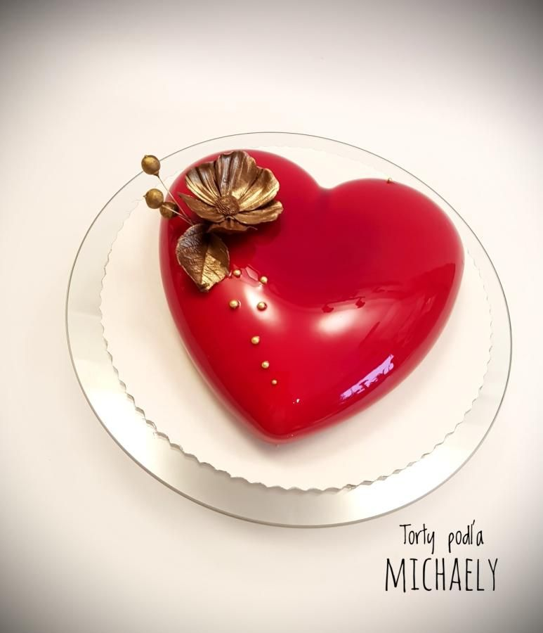 Mirror Glaze Heart By Michaela Hybska In 2019