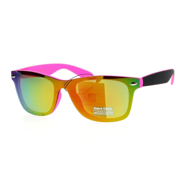 704baa4c775 Rimless Style Sunglasses Square Horn Rim All Mirror Front Matte Frame -  Pink - CY12OCKLF22 - Women s Sunglasses