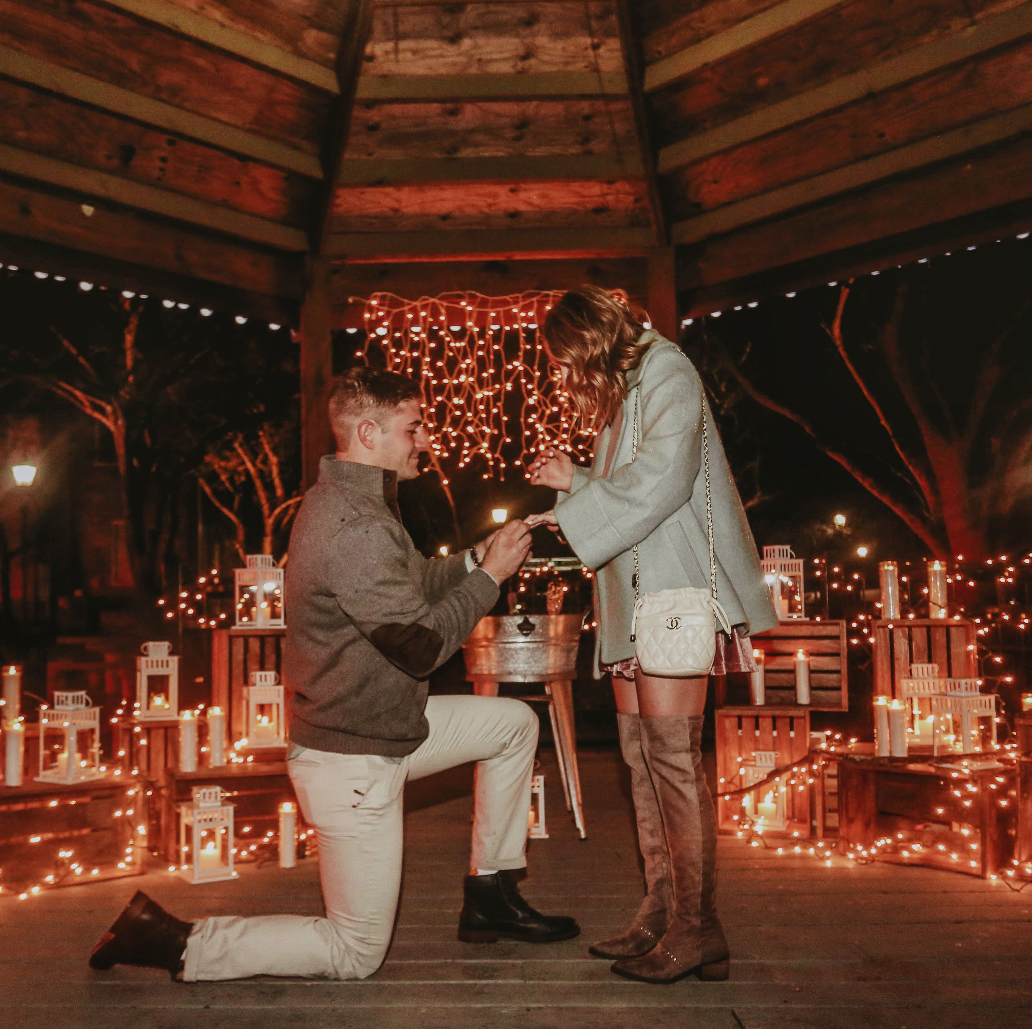 Emily And DJ's Proposal On The Knot's HowTheyAsked.com