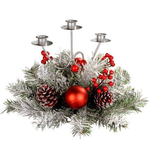 The Seasonal Aisle Triple Tape Table Candelabra Wayfair Co Uk Christmas Decorations Christmas Candelabra Christmas Table Decorations