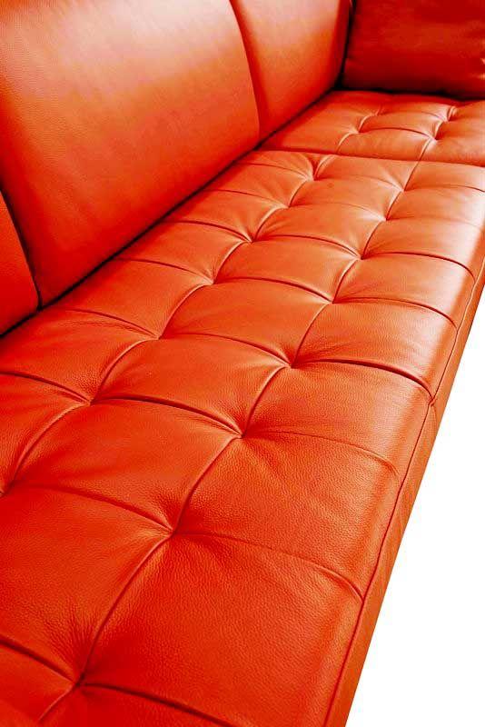 The Divani Casa 1585 Modern Orange Italian Leather Sectional Sofa Review Italian Leather Sectional Sofa Leather Sectional Leather Sectional Sofa