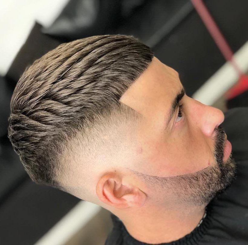 Crop Texture Degrade Haut Coupe De Cheveux Homme Coiffure Homme Cheveux Homme Coupe Cheveux Homme