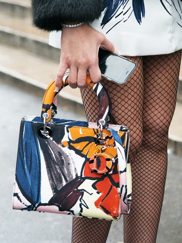 Colorful and graphic Dior top-handle mini bag Couture Week 5dacc7f6bd013