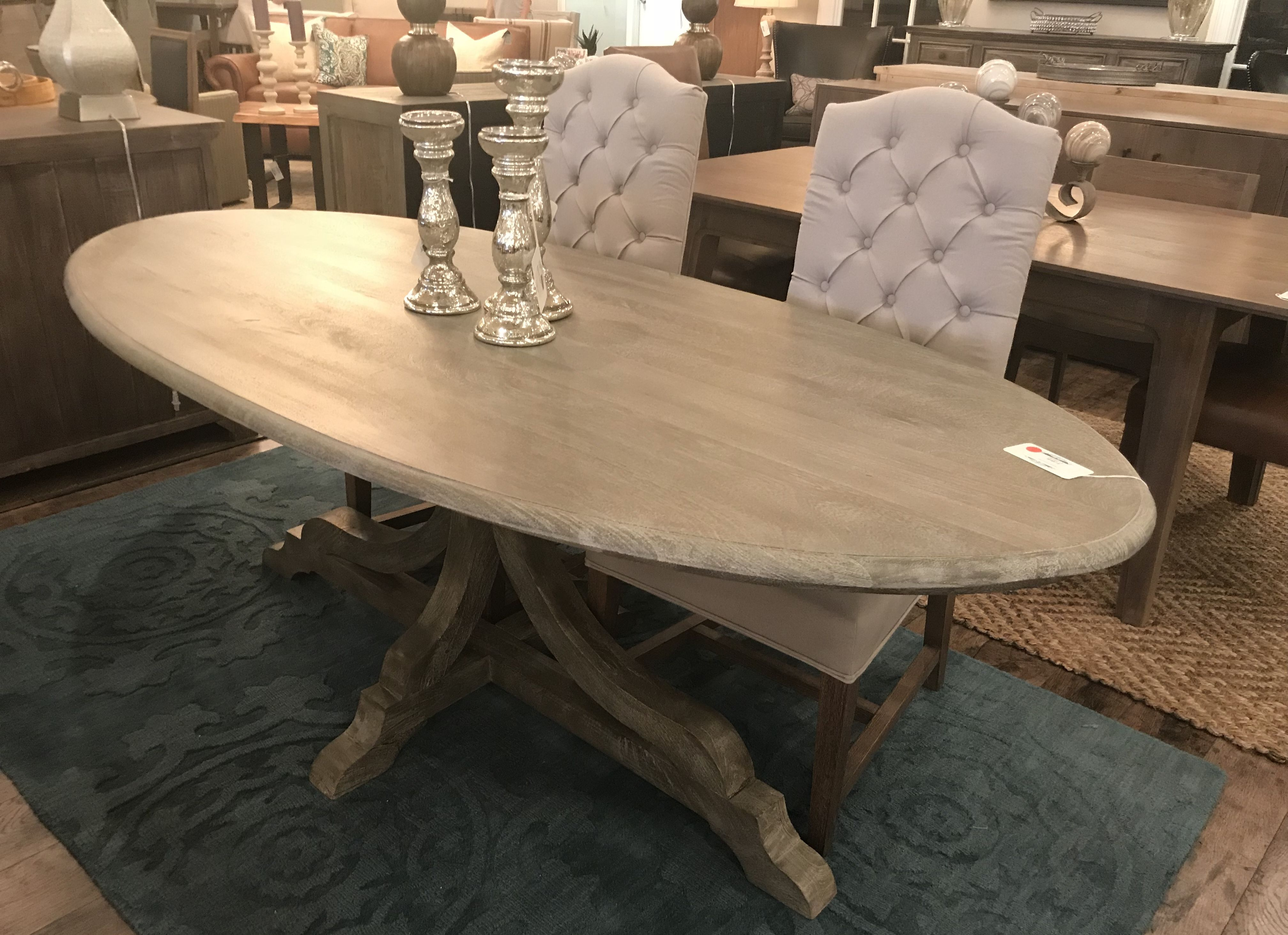 Hailey 84 Oval Dining Table Dining Table Oval Table Dining Transitional Dining Tables