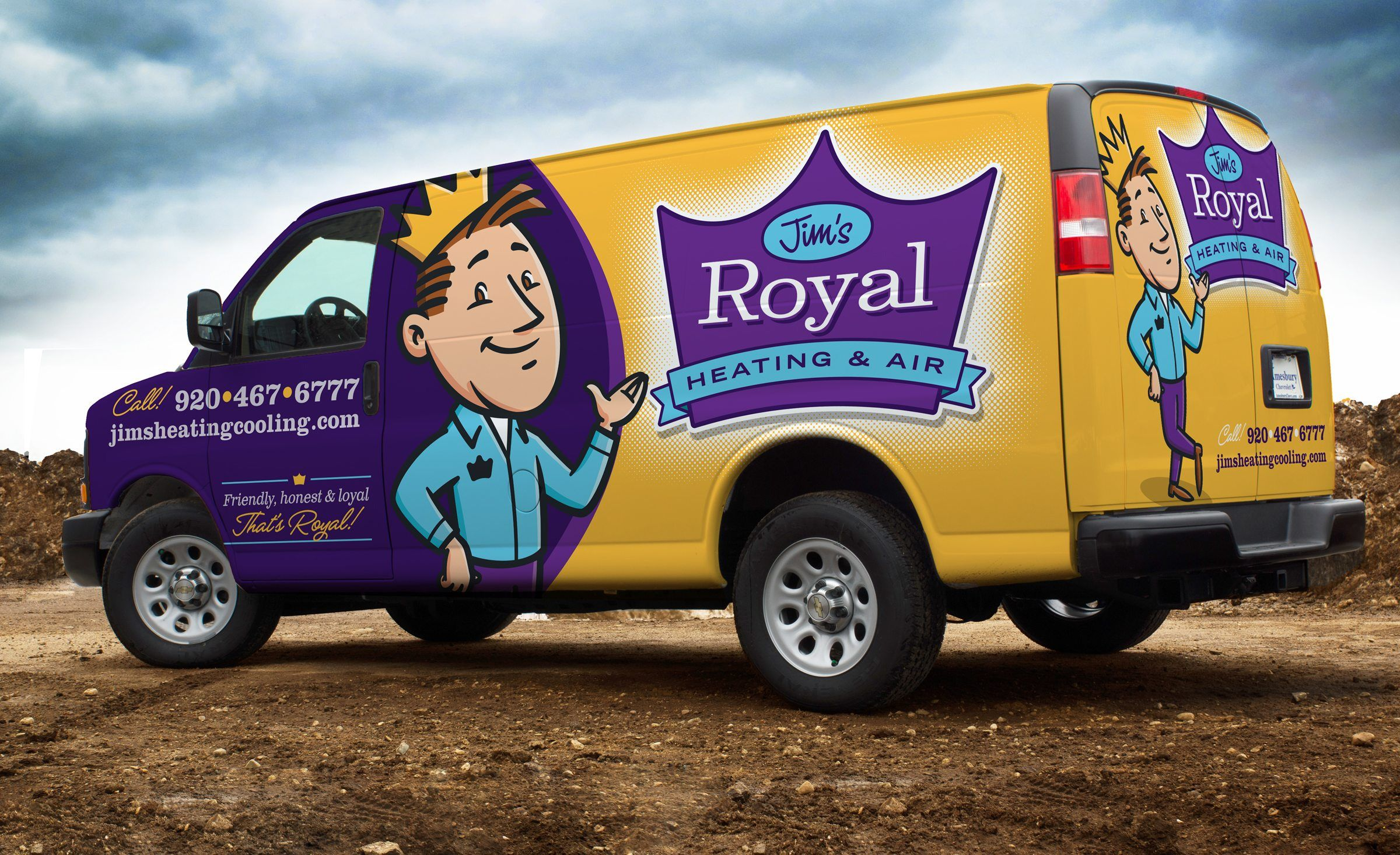 Jim S Royal Heating Air Kickcharge Creative Car Wrap Design