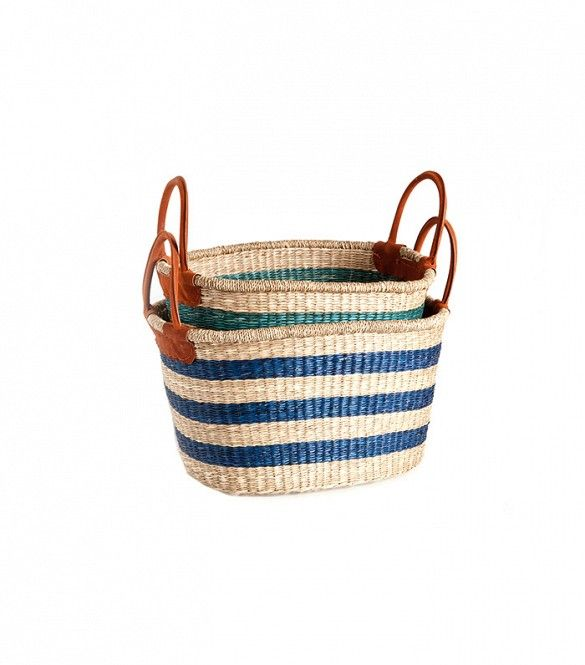 Zara Home Contrasting Blue Basket ($50 and up)