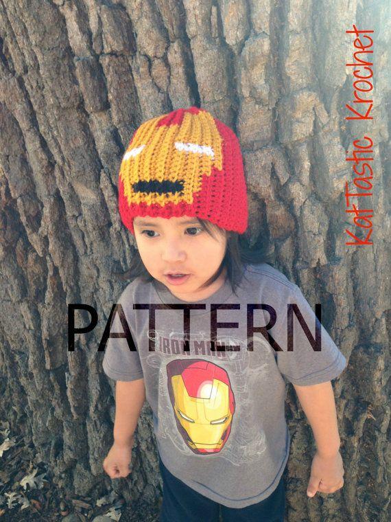 Iron Man Graph Pattern   Etsy   Hats for men, Iron man ...