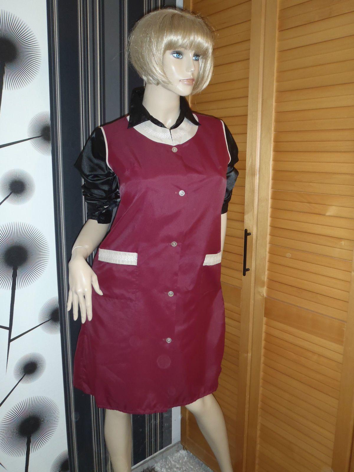 Nylon Kittel Schürze Vintage Glanz Kleid Blouse Sissy Boy ...