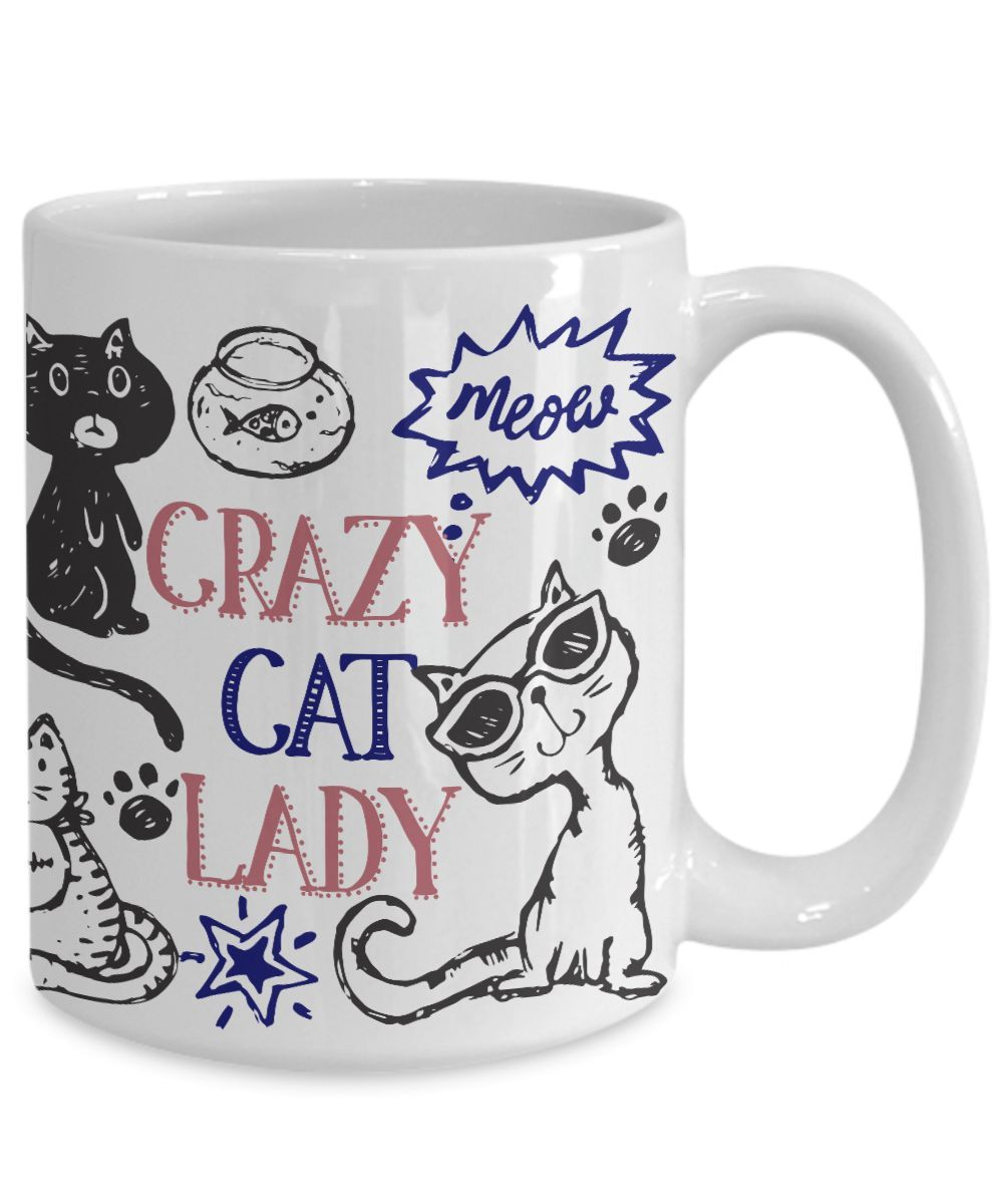 Wedding Gifts For Nerds: Crazy Cat Lady Coffee Mug
