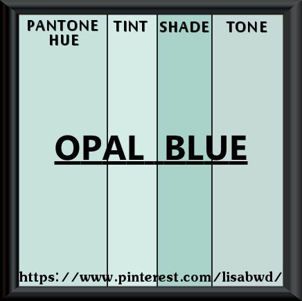 Pantone Seasonal Color Swatch Opal Blue