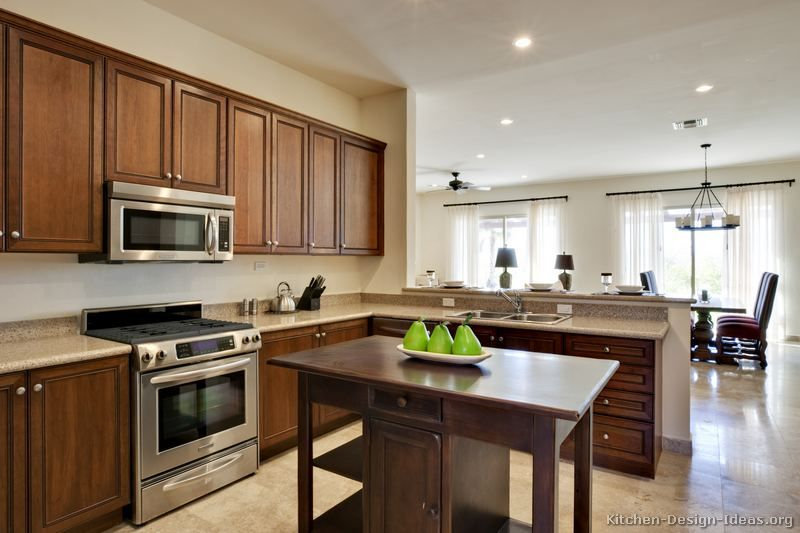 Kitchen Designs With Peninsula Bar Of Kitchens Traditional Medium Wood Golden B Refacing Kitchen Cabinets Affordable Kitchen Cabinets Brown Kitchens
