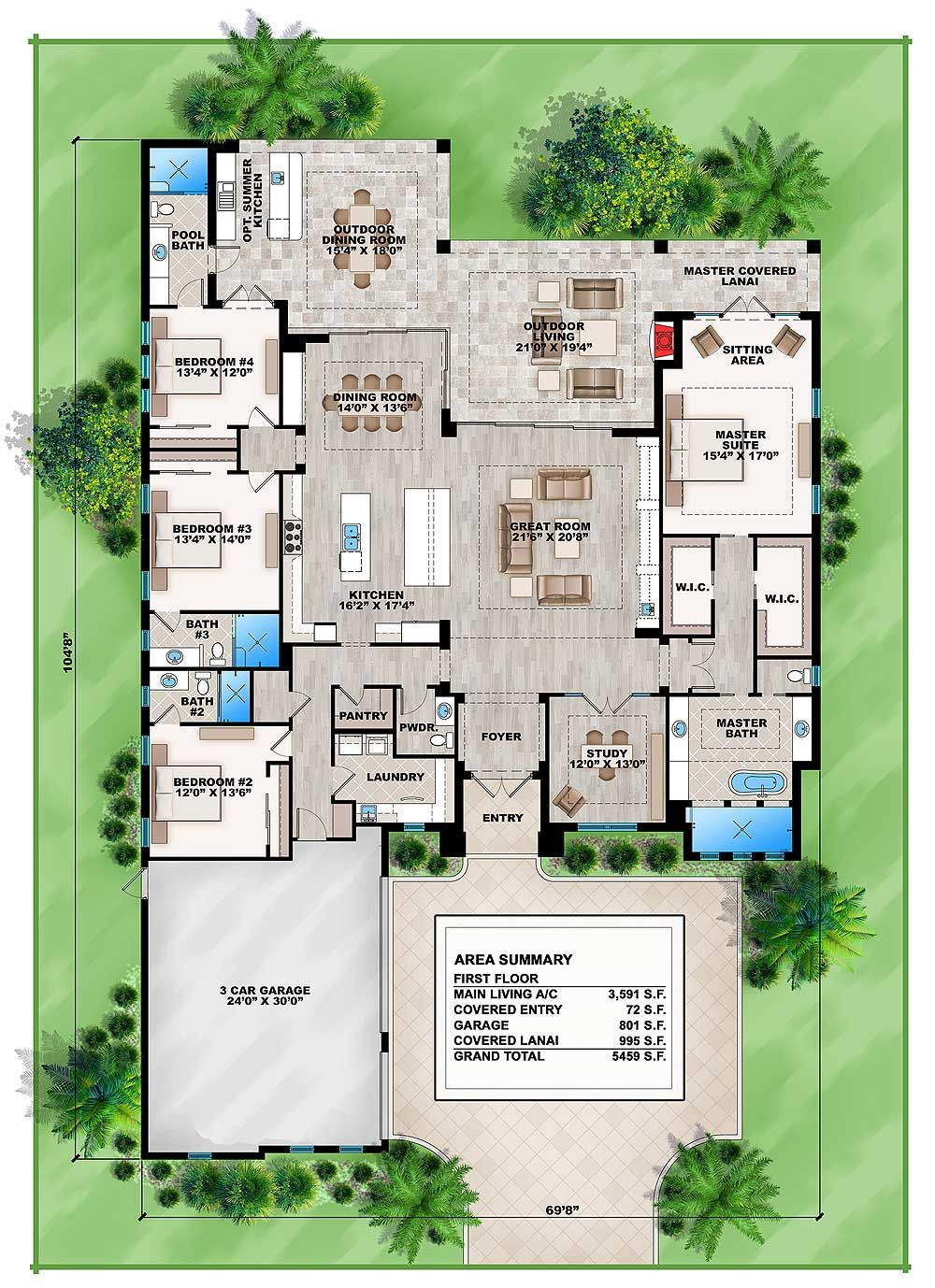 Plan 86037bs Florida Retreat Dream House Plans House Plans House Flooring