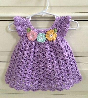 Coloridos vestidos tejidos a crochet para niña 2019 #vestidosparabebédeganchillo