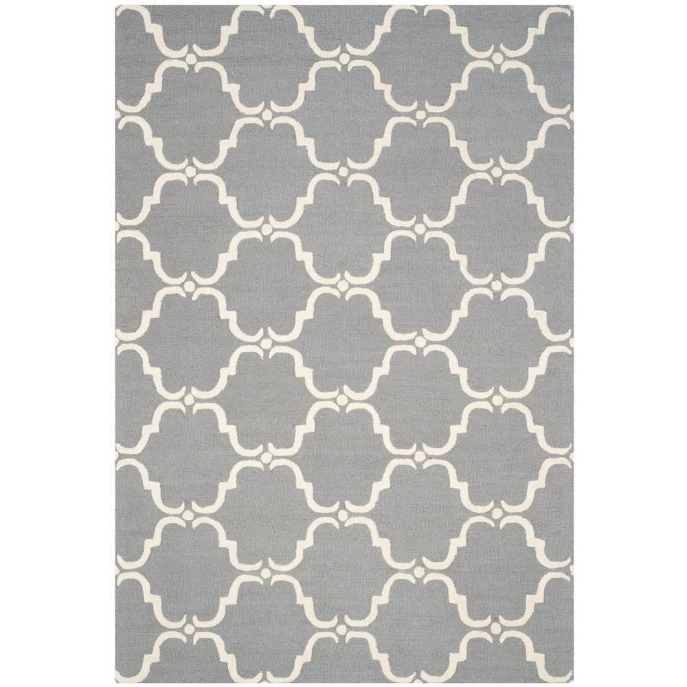 Safavieh Cambridge Dark Gray Ivory 6 Ft X 9 Ft Area Rug Blue