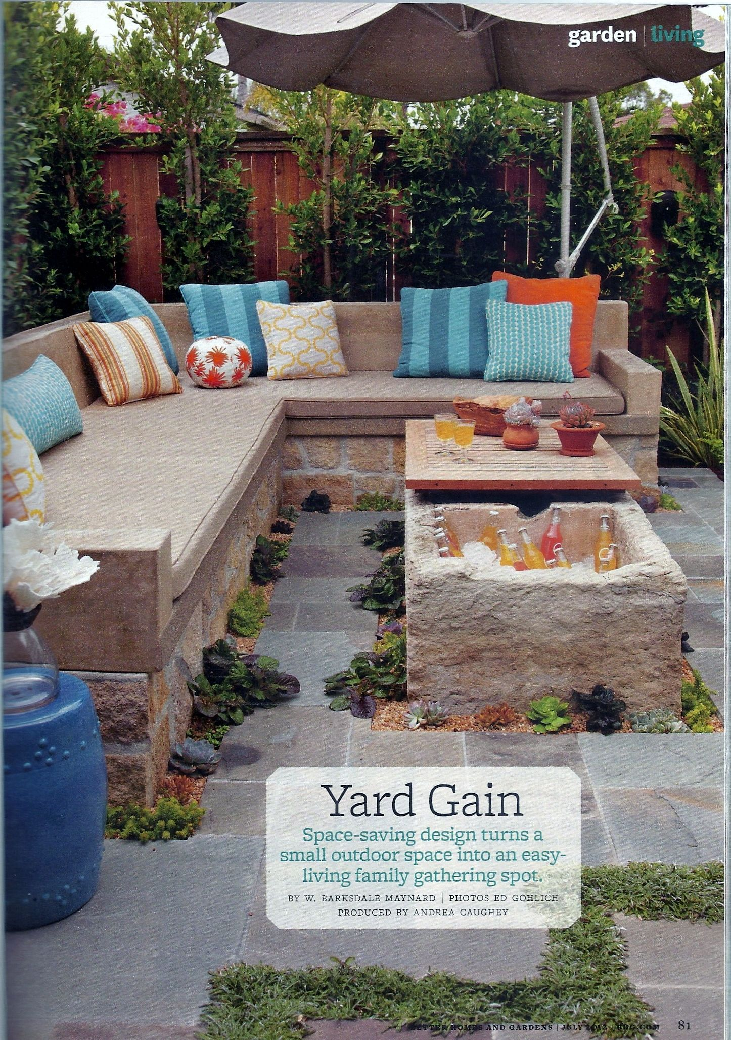 Homes And Gardens Magazine July 2012 Patio