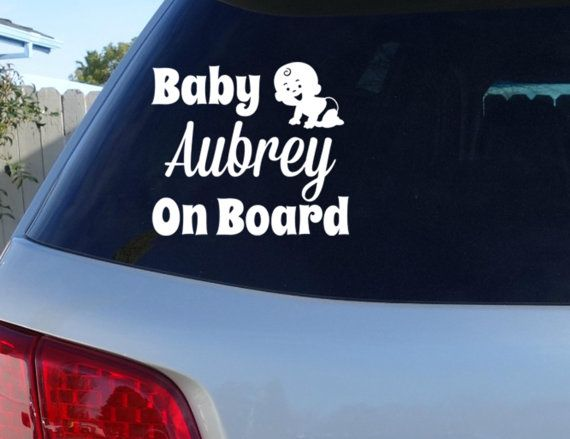 Custom Baby On Board w/ name Car Window Decal  by JensVinylDecals, $8.99