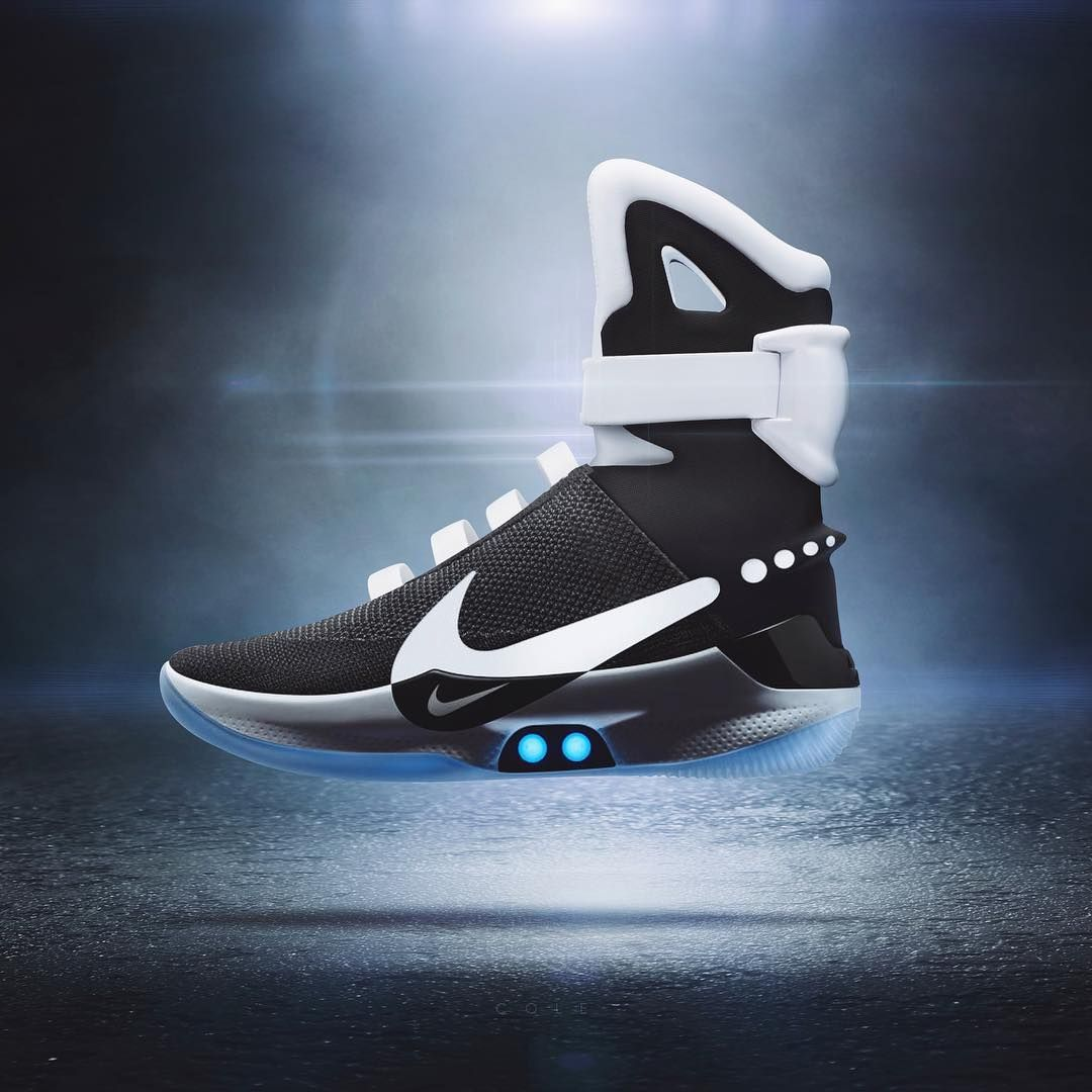 "hot sale online 8effd ad2c8 Jeff Cole ( cole) ""WHAT IF⁉ ⁉ NIKE Adapt BB self lacing shoes mixed with  the  airmags Who thinks these should drop  …"""